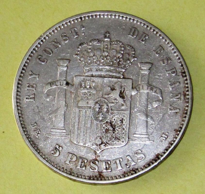 Duros de Plata de Alfonso XII 1877b