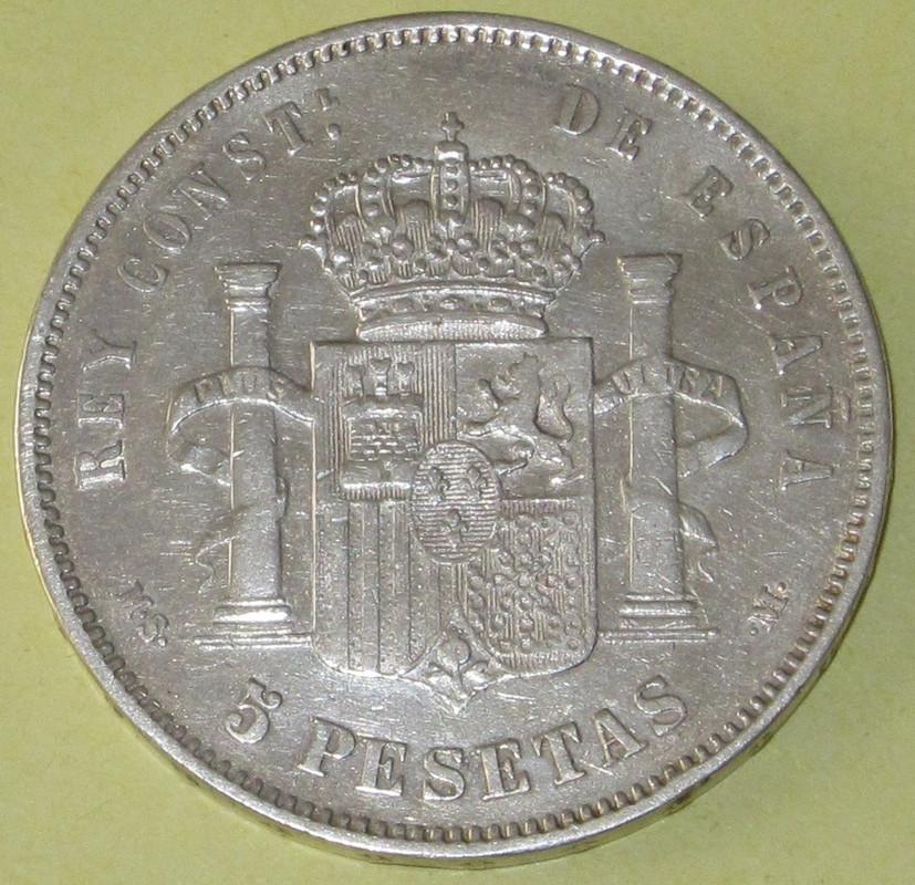 Duros de Plata de Alfonso XII 1887_MPMb