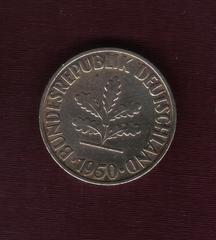 10 Pfennig. Alemania. 1950. Munich Image