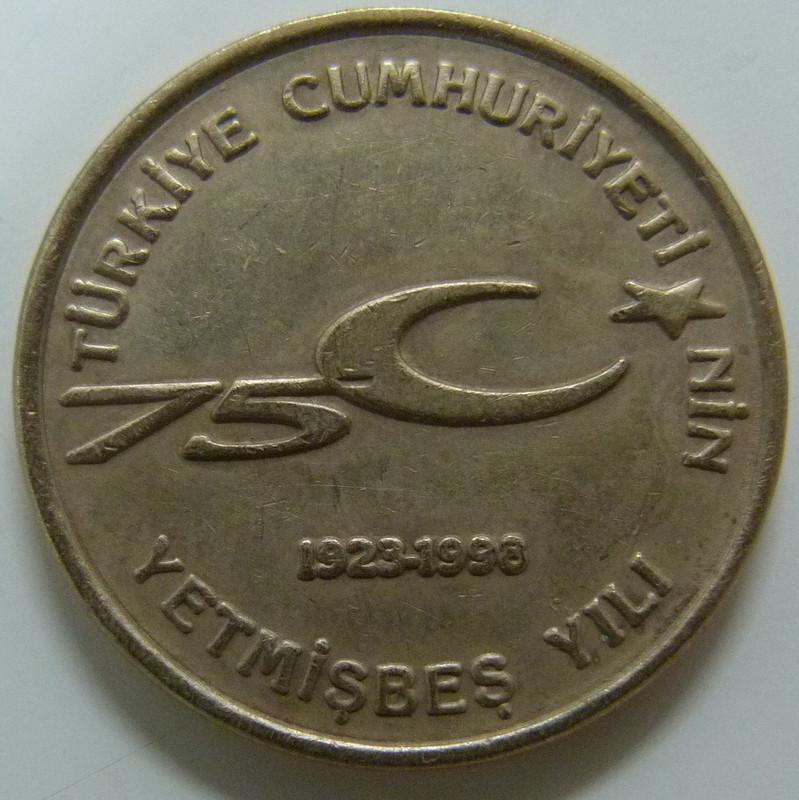 100.000 Liras. Turquía. 1999 TUR_100000_Liras_75_aniversario_rep_blica_r