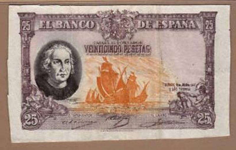 RARO Y CURIOSO ERROR DE 100 PESETAS DE 1940 DE COLÓN!!!! Colon