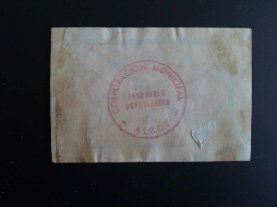 1ª emision 25 centimos de Alcoy, 8 Febrero 1937 14012013984