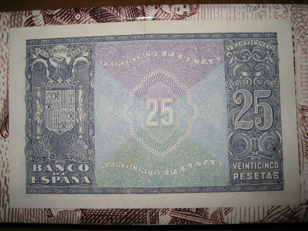 25 pesetas 9 Enero 1940 IMG_5693
