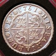 4 reales de Carlos III del año 1761. Ceca Sevilla. JV. Si_IMG_20161106_131613