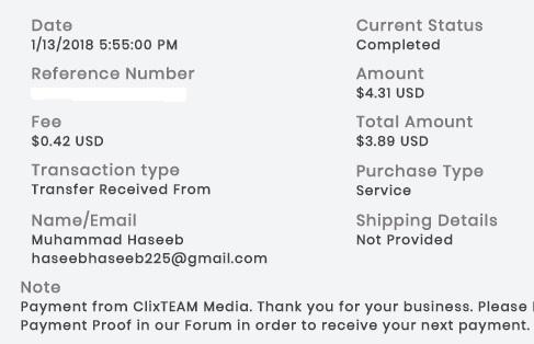 2º Pago de ClixTeam ( $4,31 ) Clixteampayment