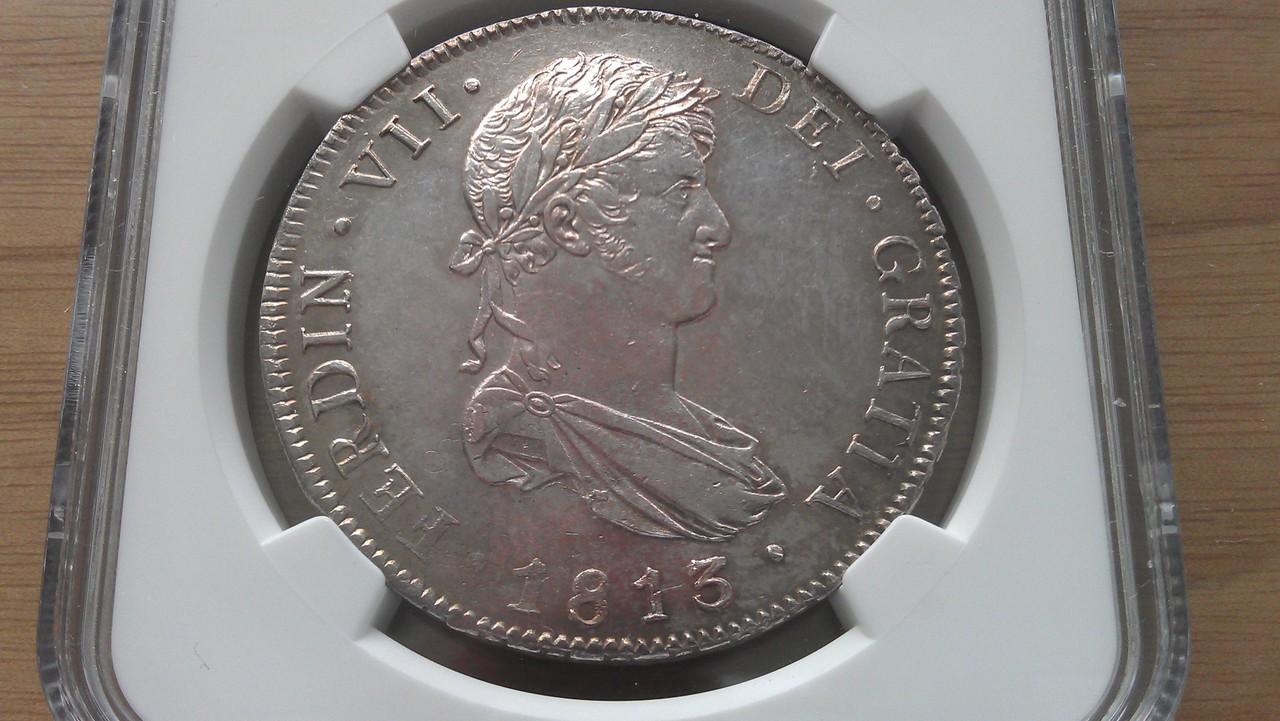 8 reales 1813 Fernando VII Guatemala IMAG0676