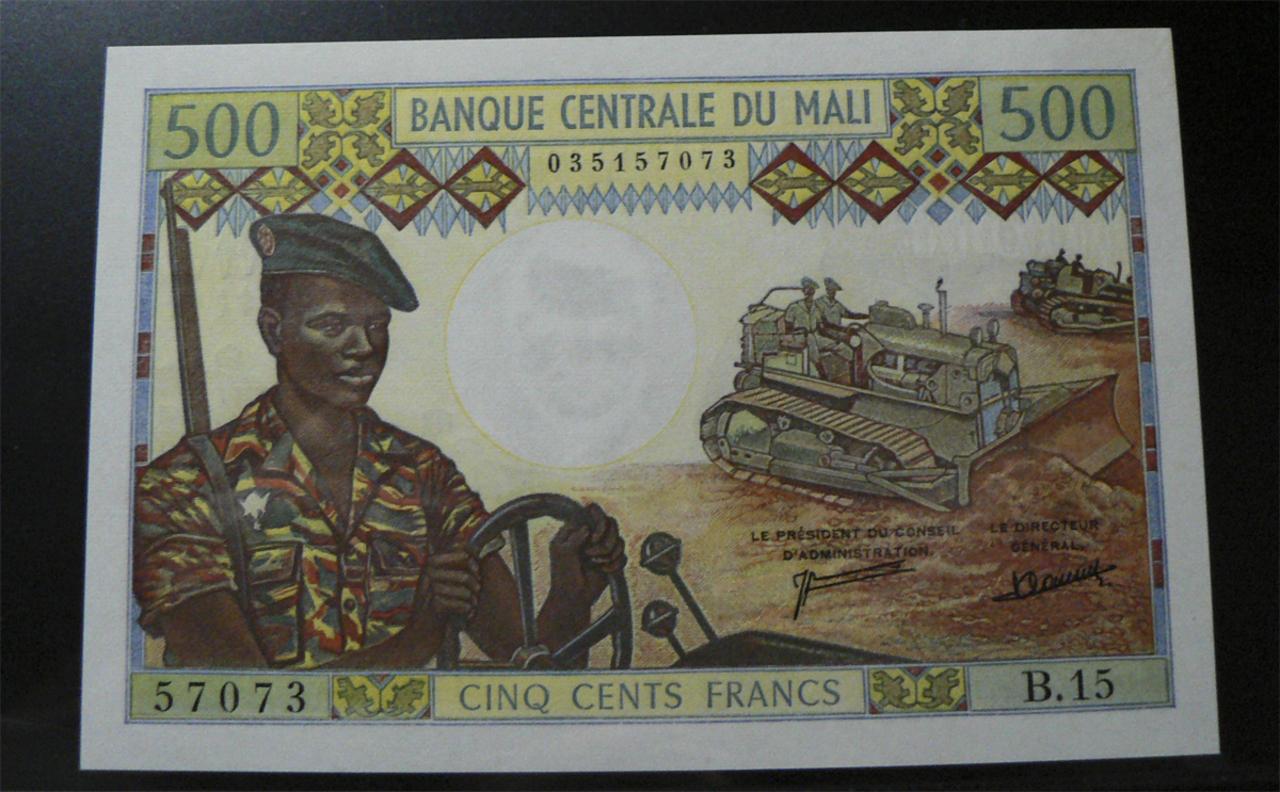500 Francos Malí, 1973 Ml12d