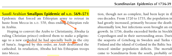 Variole Arabique autre preuve Historique et Scientifique Meca