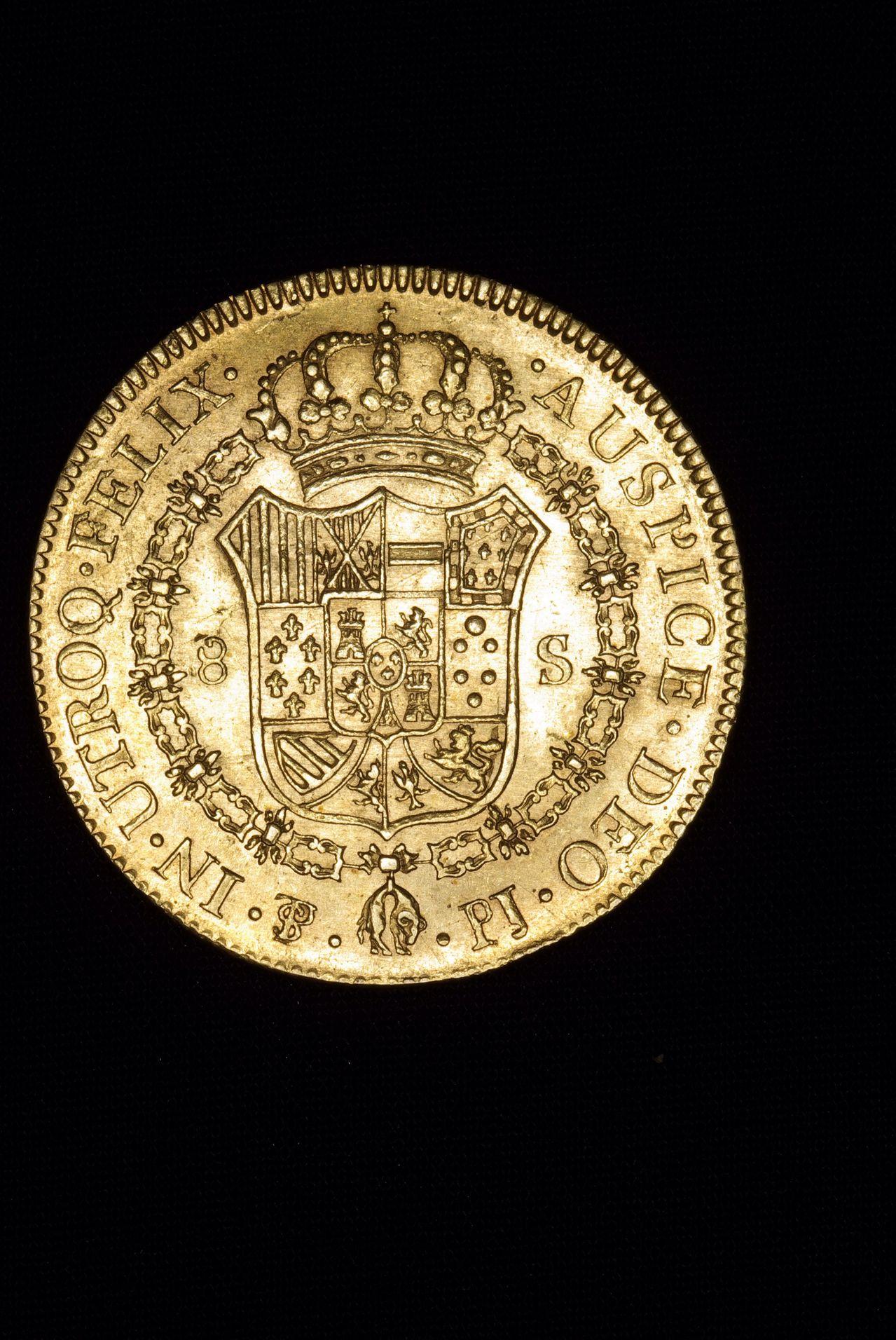8 escudos 1805 Carlos IV - Potosí  Image