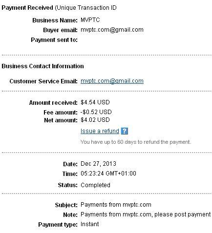 2º Pago de MVptc ( $4,54 ) Mvptcpayment