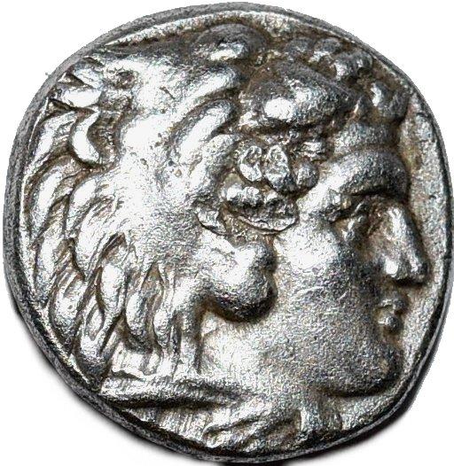 """Dracma de plata. Alejandro III """"el Grande"""". Ceca Sardes. 336-323 a.C. Acuñada bajo el mandato de Pérdicas  247"""