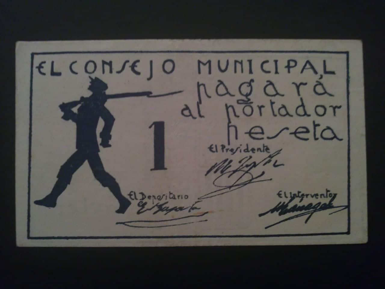 1 Peseta San Javier (Murcia), 1937 31102011314