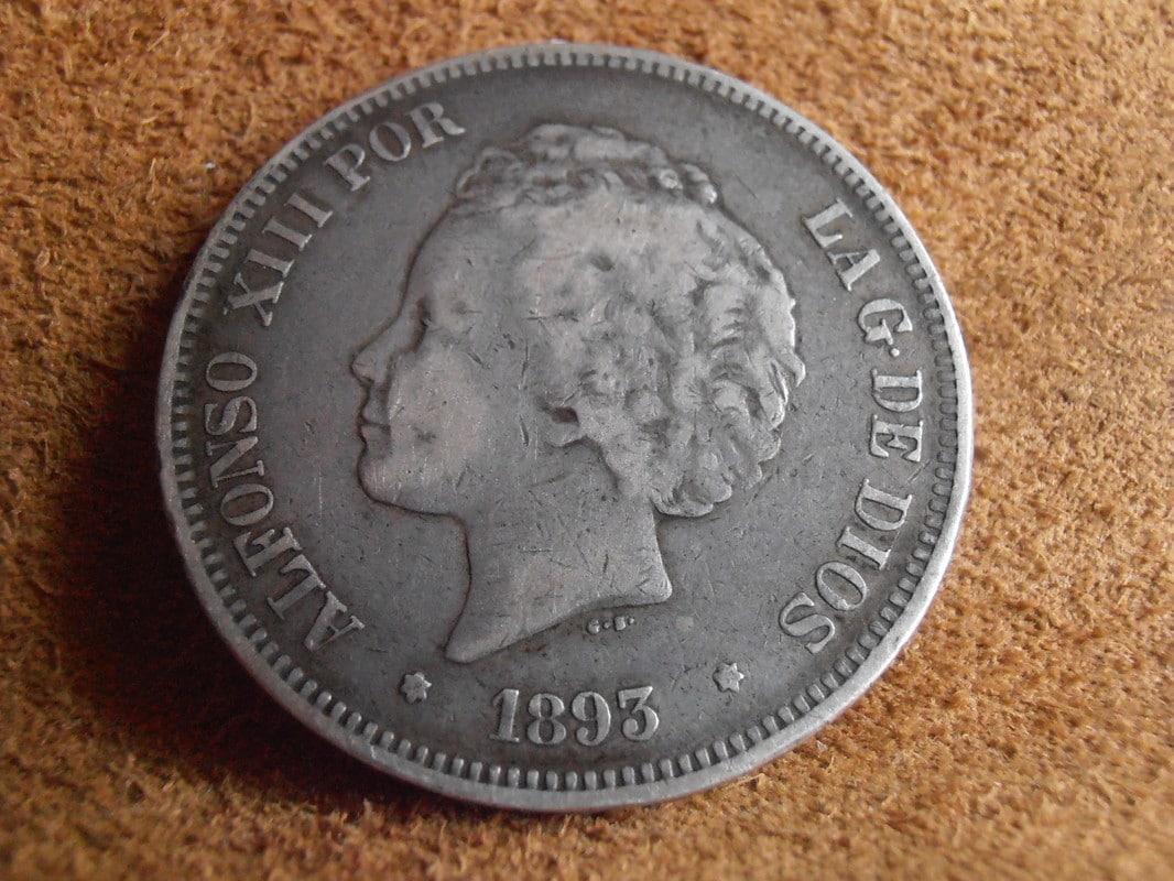 5 Pesetas 1893. Alfonso XIII. PGV P2258603_1