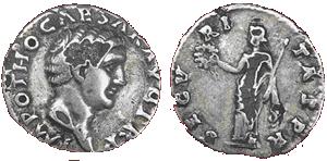 Glosario de monedas romanas. DENARIO FORRADO. Image