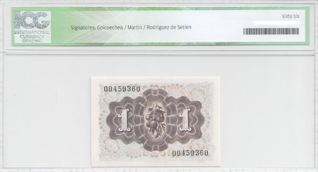 Colección de billetes españoles, sin serie o serie A de Sefcor 48_reverso