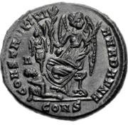 Glosario de monedas romanas. CONSTANTINIANA DAFNE. Image