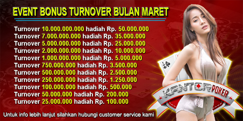 KANTORPOKER.NET - Situs Judi Poker Online Terbaik dan Terpercaya Di INDONESIA Turnover_maret