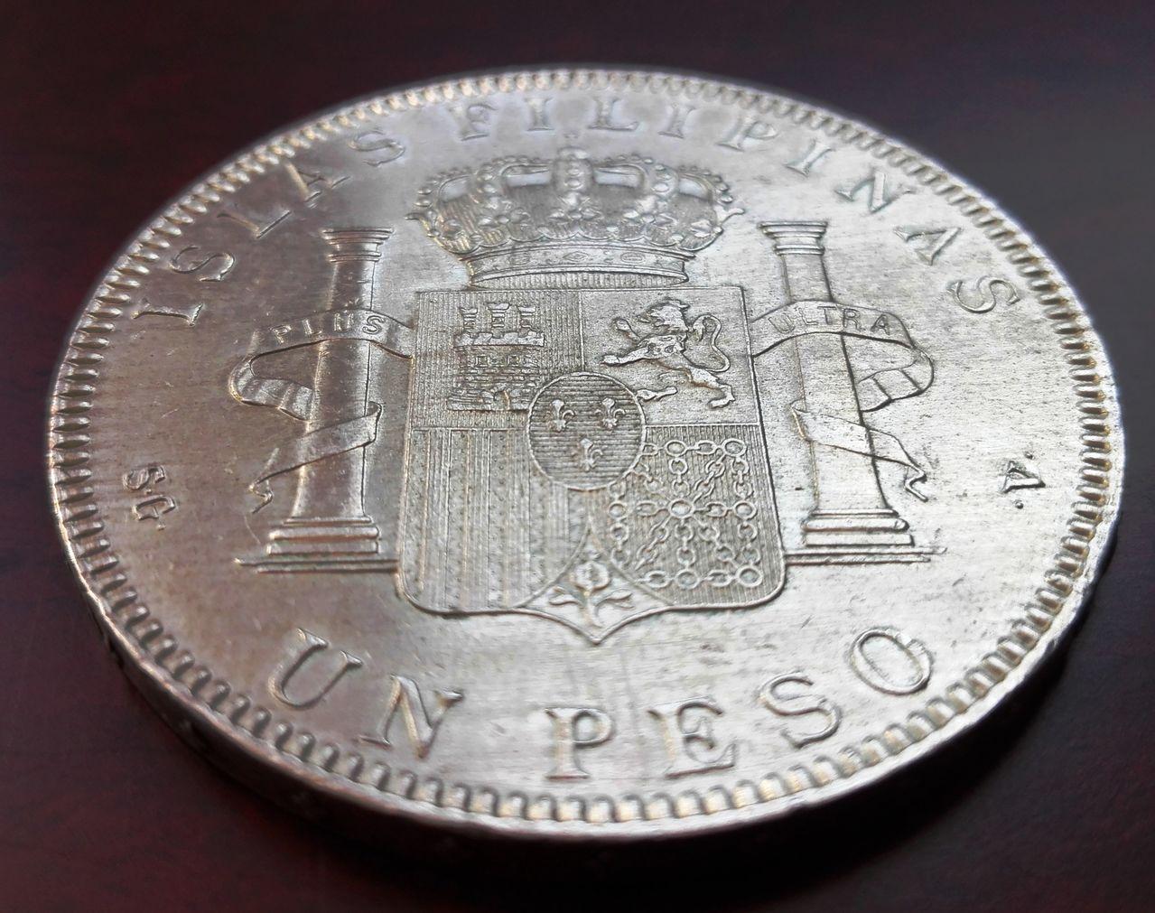 1 peso Filipinas 1897, Alfonso XIII  1_peso_fiolipnas5