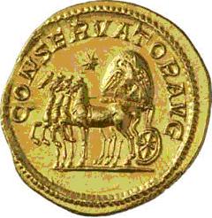 Glosario de monedas romanas. CUADRIGA. Image