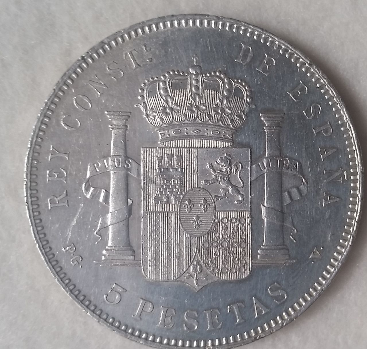 ALFONSO XIII. 5 pesetas. 1896*18-96. PGV 20160402_180009