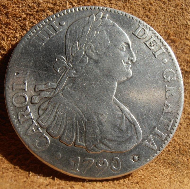8 Reales 1790 Méjico Busto de Carlos IV IMG_3705