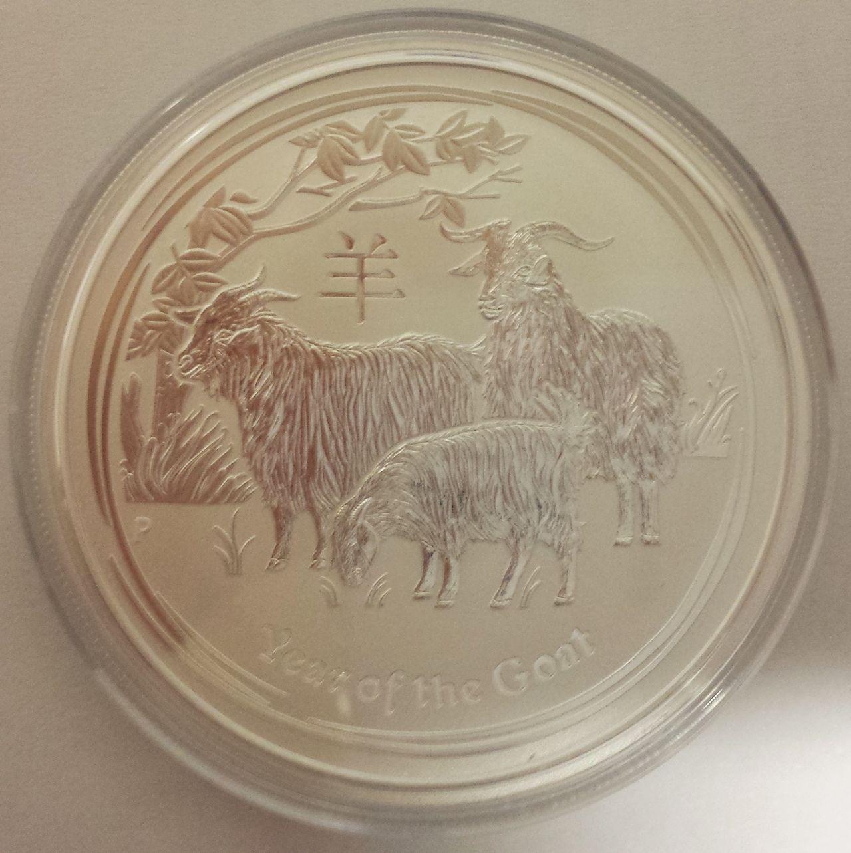 2 onzas plata Australia 2015 (2 dolares-año de la cabra) 20150107_200548