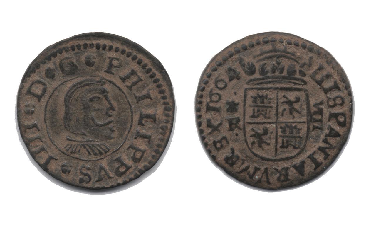 Dudas catalogación Felipe IV 8 maravedís Coruña 1664  18_009_FF
