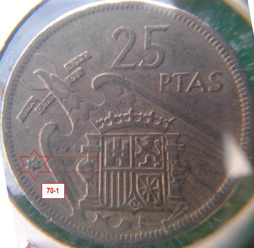 Geometría de las estrellas de las monedas de 25 pesetas 1957* 70_1_E
