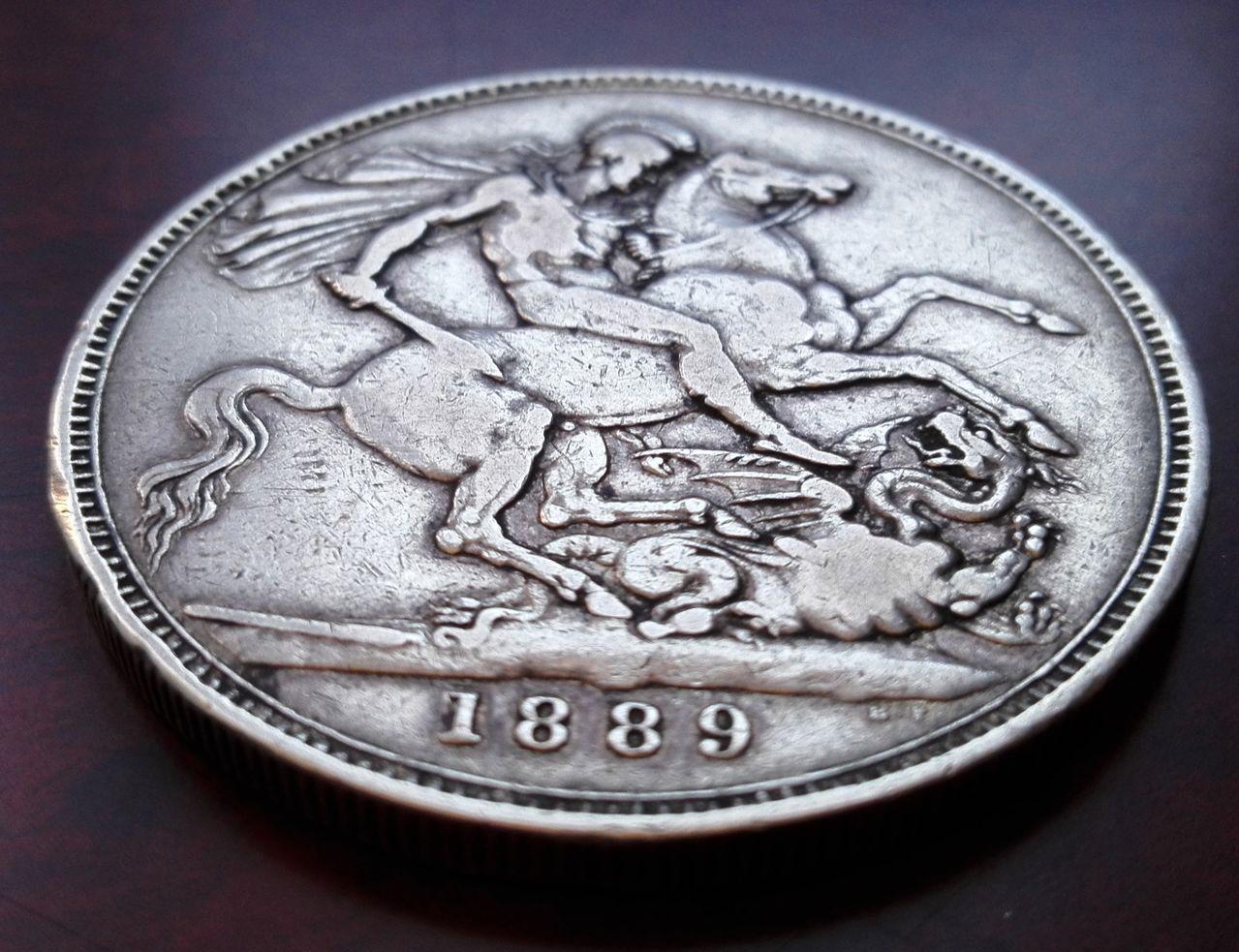 1 corona 1889, Reino Unido  1_corona_1889_4