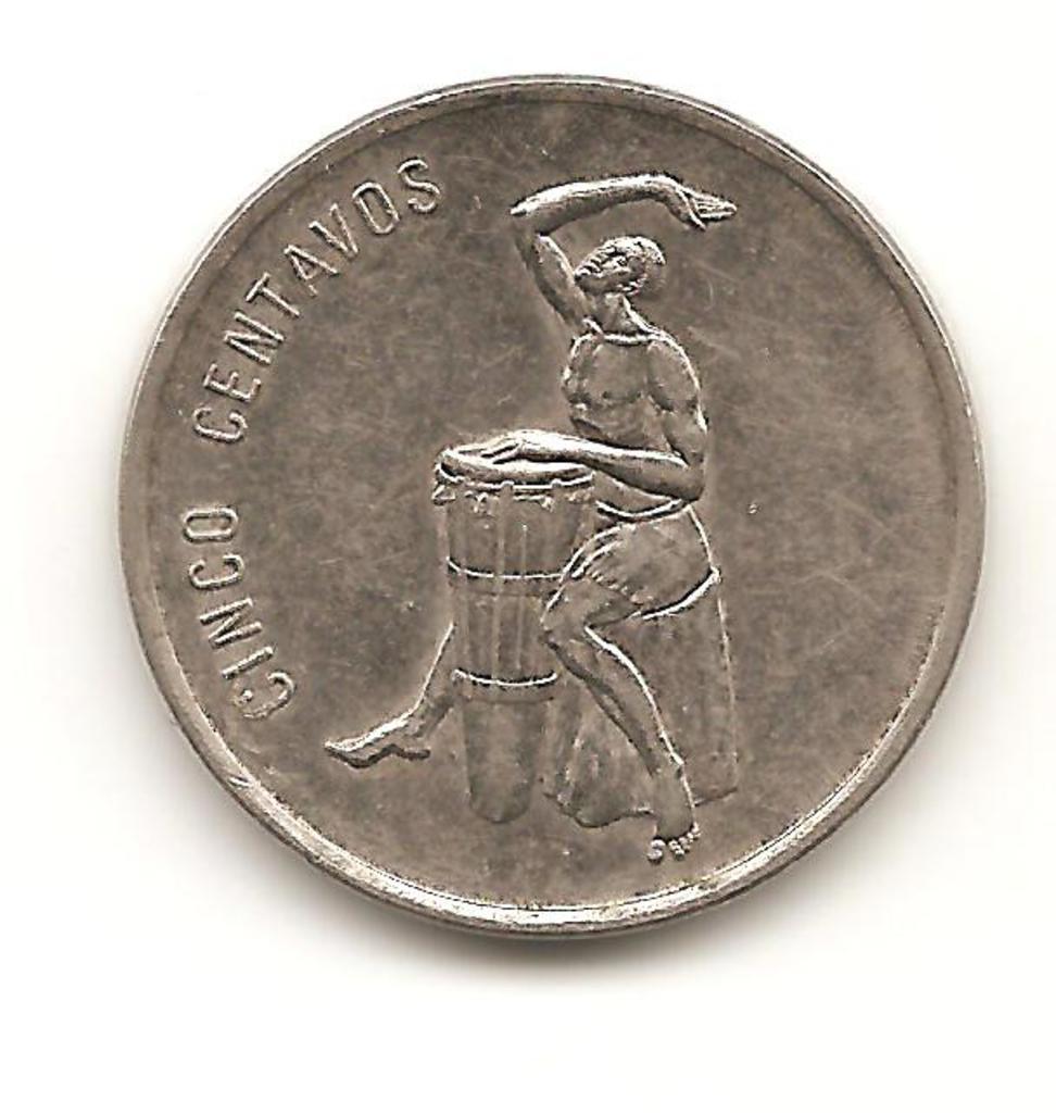 5 centavos Republica Dominicana año 1989 Image