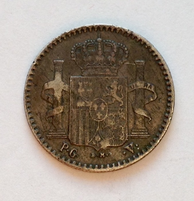 5 centavos 1896 Alfonso XIII Image
