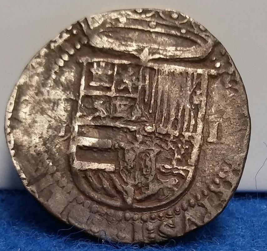 2  reales macuquinos Felipe II ceca de toledo 20161025_144746