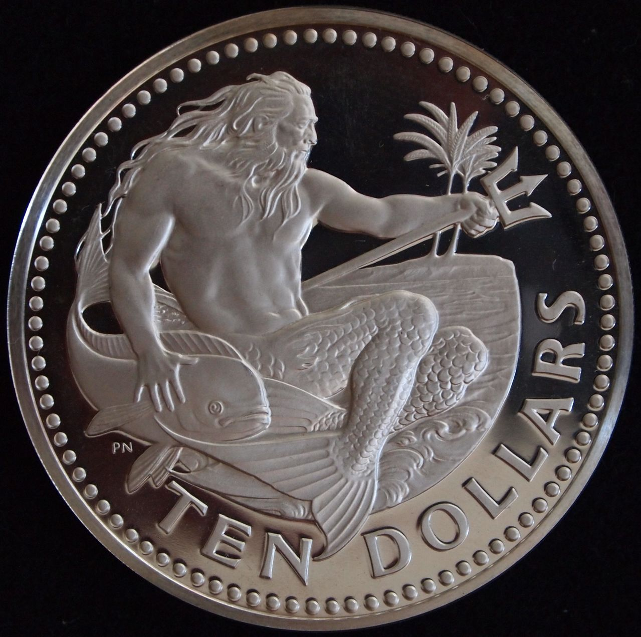 10 dolares Barbados 1974 1