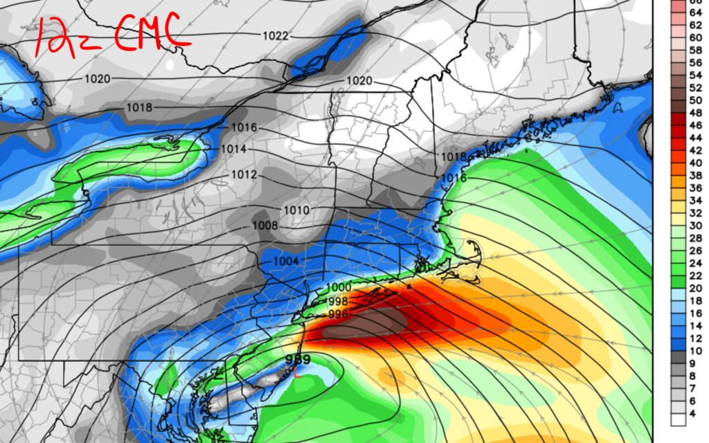 01/22/16 - 01/23/16 Update #2 - Models Not Backing Off 12z_cmc_wind