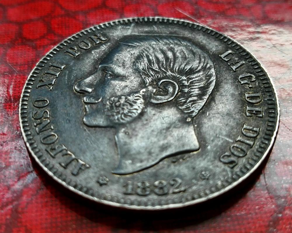 2 pesetas 1882. Alfonso XII. Peseton pátina negra  IMG_20171225_125625