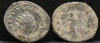 Antoniniano de Valeriano I. VICTORIA AVGG. Victoria estante a izq. Ceca Roma. Antoniniano_forrado