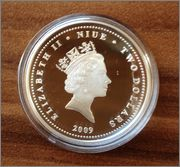 2 Dollars. Niue Island. 2009  Image