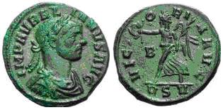 Glosario de monedas romanas. DENARIO DE COBRE/BRONCE. Image
