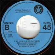 Vesna Zmijanac - Diskografija  1981_1_z_b