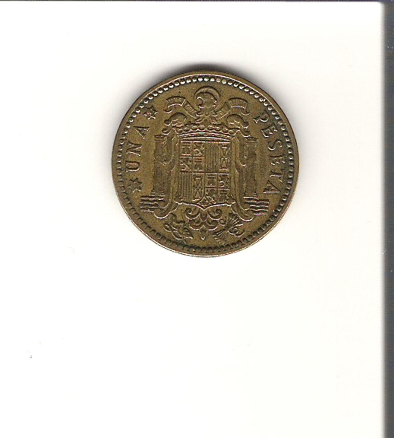 1 Peseta 1963 (* 19-63). Francisco Franco. Estado Español.  1_PST_5