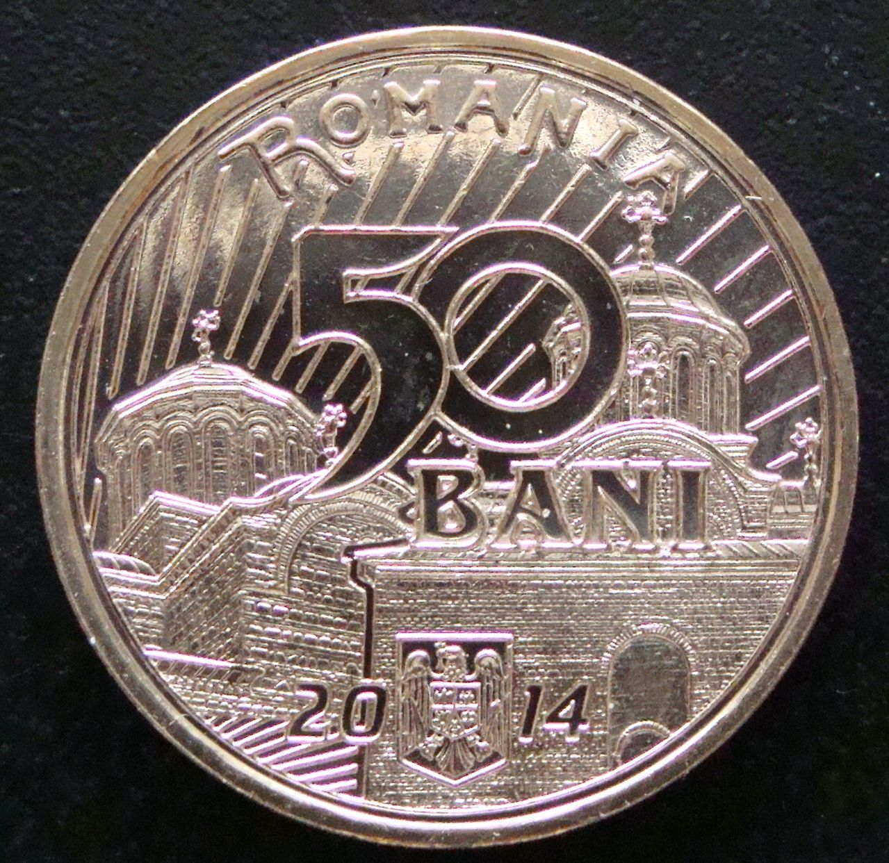 50 Bani. Rumania (2014) Vladislav  RUM_50_Bani_Vladislav_I_Vlaicu_anv