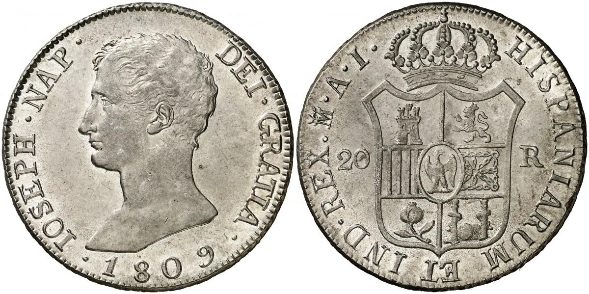 20 Reales 1809 José I Bonaparte - Madrid 1891141