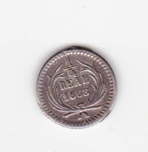 1/4 real 1868, Guatemala 1_cuarto_real_1868_guatemala_001