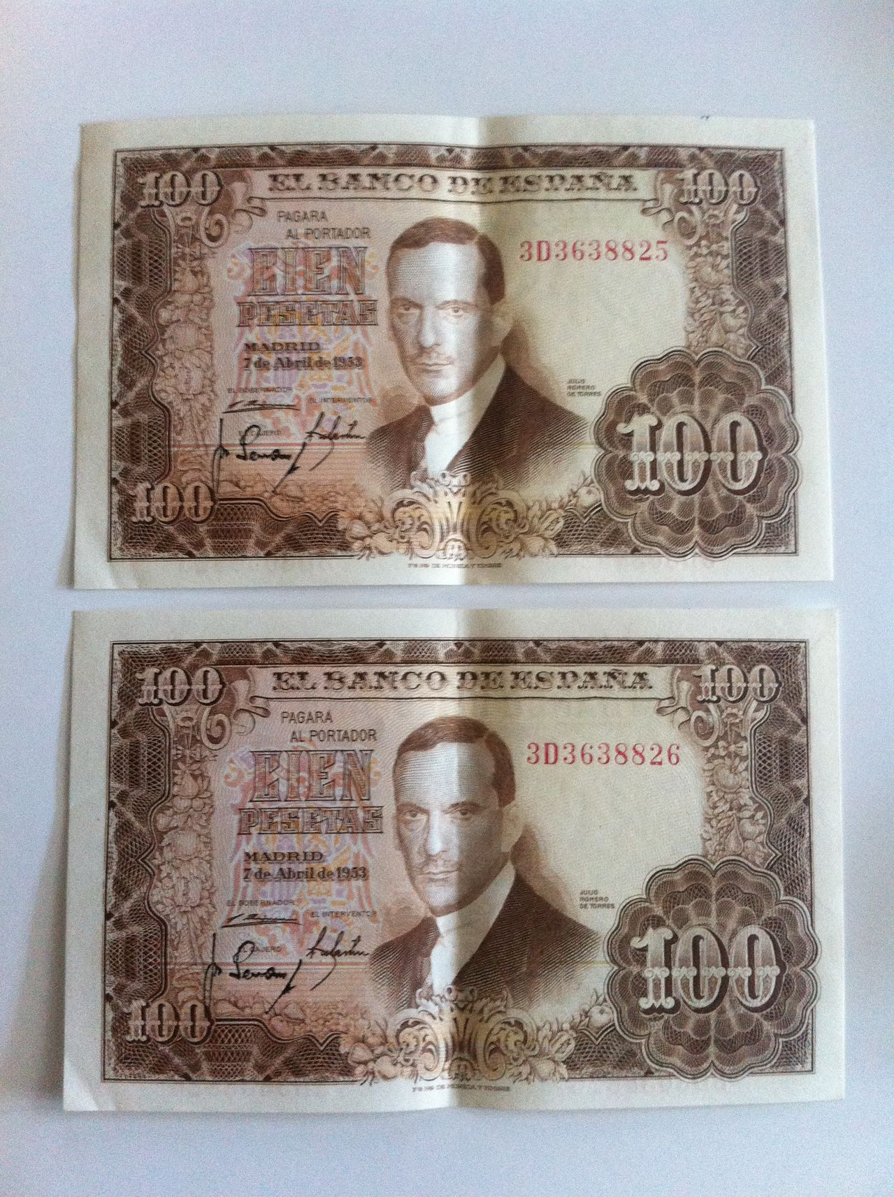 Ayuda valoracion cien pesetas 1953 IMG_5010