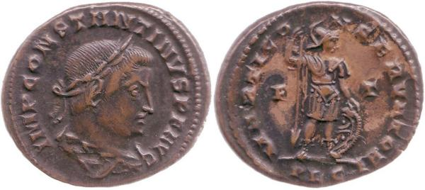 Nummus de Constantino I. MARTI CONSERVATORI. Lyon Lyons_RIC_VI_304