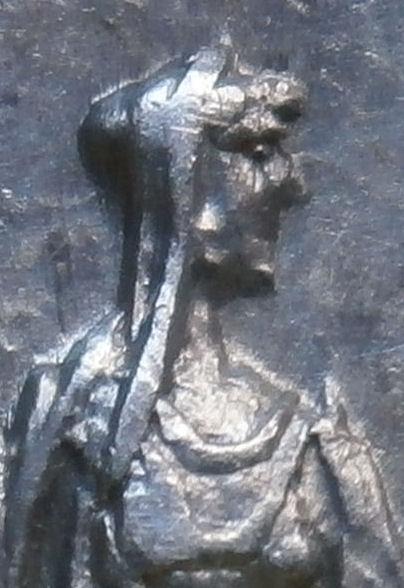 Denario de Faustina I. AVGVSTA. Ceres velada estante a dcha. Ceca Roma. Imagen1111