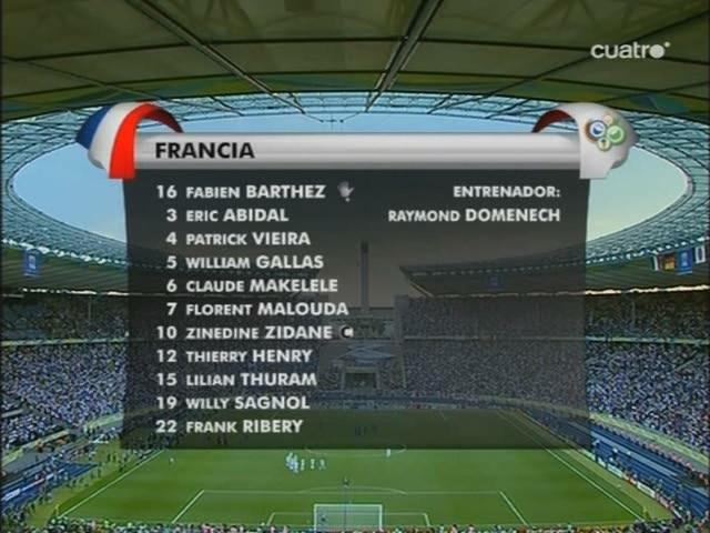 Mundial Alemania 2006 - Final - Italia Vs. Francia (1080p/720p/480p) (Español Latino/Castellano-Italiano-Francés-Inglés-Español Latino/Castellano) Image