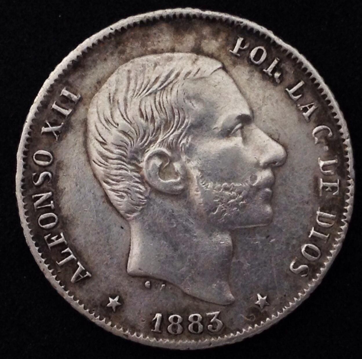 20 centavos de peso 1883 Alfonso XII - Kukuyeye dedit Image