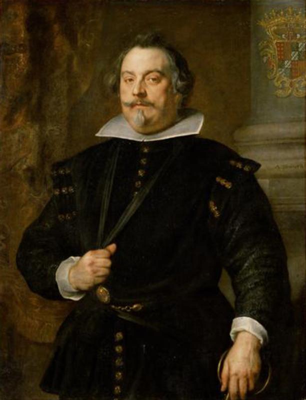 Jetón de Felipe IV. Bruselas. 1634. Francisco de Moncada levanta el Sitio de Breda. Anthonis_van_Dyck_076_1