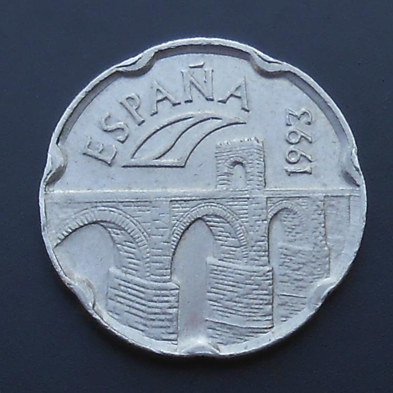 50 pesetas 1993 PUENTE DE ALCANTARA. Dedicada a Anmem. DSCN1326